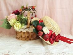 Figlia H125 Flowery Strawberry Hat-2color