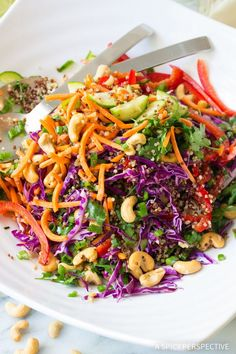 A Spicy Perspective Thai Quinoa Salad - A Spicy Perspective