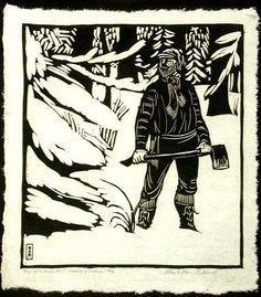 Woodblock print by Wharton Esherick   Art   Pinterest