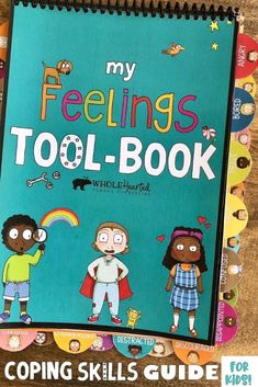 The MY FEELINGS TOOL-BOOK is an interactive guide that helps young people relate to their feelings i Elementary Counseling, School Counselor, Career Counseling, Elementary Schools, Coping Skills, Social Skills, Learning Skills, Positive Thinking Books, Feelings Activities