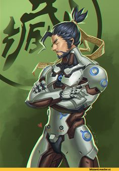 Genji (Overwatch),Overwatch,Blizzard,Blizzard Entertainment,фэндомы,Hanzo,Overwatch art