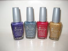Make your own nailpolish. Start with clear coat and add eye shadow for tint and glitter. Sounds fun! @Vanessa Samurio Campbell - here's your next nail experiment. :)