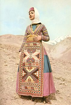 Cilician bride, Woman from Gavash. from The Costumes of Armenian Women by Gregory Lima(Tehran, 1974).