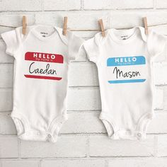 hello my name is onesie hello sticker your name by BlueNaluShop