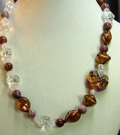 Exotic Murano Crystal  and Lampwork  Necklace