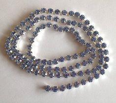 SS18 4mm ~Light Sapphire Blue~Crystal  Rhinestone Chain Banding Czech Made - USA | eBay