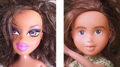 """The hyper-sexualization of children's toys (especially Bratz Dolls) make many of us very uncomfortable. In fact, when a new Bratz movie came into the video store I worked in once, a custome legitimately asked if it was a new animated porno he could rent. So these make-unders done by a Tasmanian artist who """"rescues and rehabs"""" these dolls and then poses them doing things that actual young girls might do, like hiding in trees and chilling on swings."""