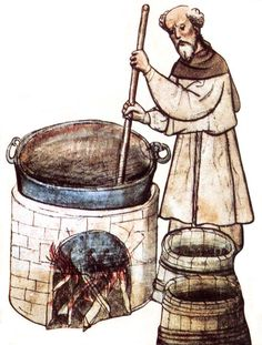 monks brewing beer - Google Search