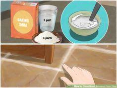 How to deep clean grout between floor tiles