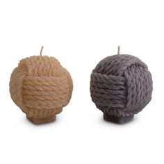 Sailors Rope Knot Design Wax Candle for the Home - Two Colours #home #accessories #coastal #beach #knot #candle