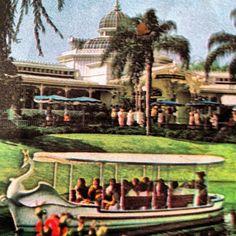 Swan Boats sailing around Magic Kingdom, May 20, 1974 till August 1983.