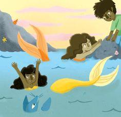 Mermaids <3 Alexandra Turner-Piper Mermaids, Pikachu, Illustration, Fictional Characters, Art, Art Background, Kunst, Illustrations, Performing Arts
