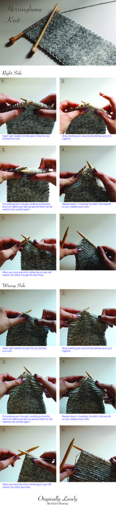 If you are using a different yarn than the one I have used make sure to check your gauge before you start. Herringbone stitch knits quite a bit more dense than other stitches to you will need bigger needled and a higher stitch count.