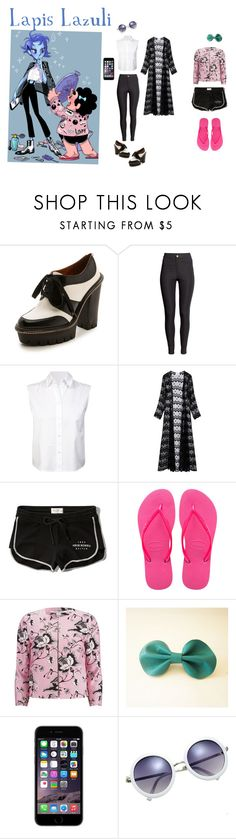 """Lapis Lazuli- Steven Universe - Fan Fiction"" by o-itsmimi-o ❤ liked on Polyvore featuring Marc by Marc Jacobs, H&M, T By Alexander Wang, We Are Leone, Abercrombie & Fitch, Havaianas and Diane Von Furstenberg"