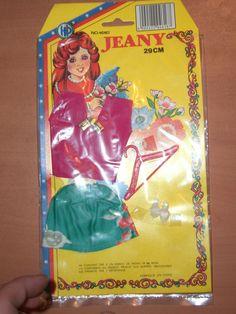 VINTAGE 80'S BARBIE SINDY BIBI-BO HP CLOTHES PURPLE BLOUSE DRESS MIB