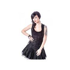 Corset gotico negro con bordados florales alrededor.http://shop.battlemetalstore.es/4-camisetas  #chaleco #corset #estilo #gotico #heavy