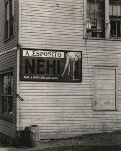 "Sign, Saratoga Springs  Ralph Steiner (American, 1899-1986)    1929. Gelatin silver print, 9 1/2 x 7 1/2"" (24.1 x 19.0 cm). Gift of the photographer. Courtesy of the Estate of Ralph Steiner  645.1970"