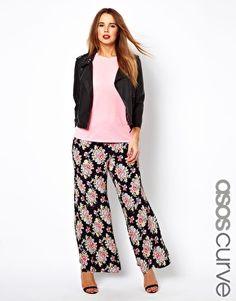 a6a153c2f90bb ASOS CURVE Wide Leg Trouser In Vintage Floral at asos.com. Plus Size ...