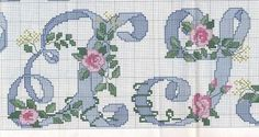 . Cross Stitch Alphabet Patterns, Cross Stitch Letters, Free Pattern, Kids Rugs, Lettering, Embroidery, Floral, Crafts, Bed Spreads
