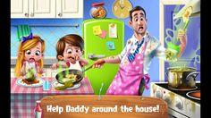 العاب بنات | لعبة بابا ينظف المنزل | العاب اطفال | العاب موبايل