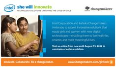 She Will Innovate Competition by Ashoka Changemakers and Intel