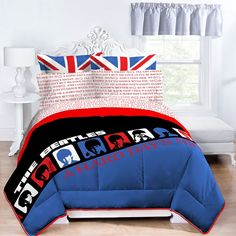 The Beatles Hard Day's Night Queen Size Comforter and Shams Set Queen Size Comforter Sets, Bedding Sets, Queen Bedding, Twin Sheets, Bed Sheets, A Hard Days Night, Bed In A Bag, The Beatles, Beatles Gifts