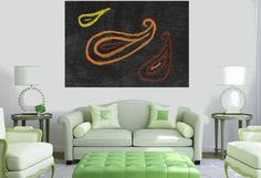 Large abstract Painting Extra Large Acrylic by JerryTitanArt