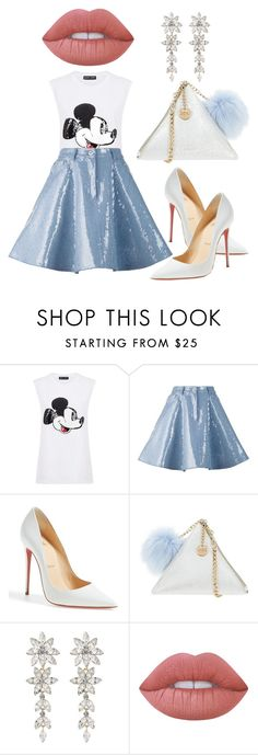 """""""Untitled #126"""" by ivanov1234491 ❤ liked on Polyvore featuring Markus Lupfer, Moschino, Christian Louboutin, LYDC and Lime Crime"""