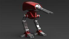 Curso Maya 3D Modelando um Robô Drone, durante o curso o aluno vai aprender todo o processo de produção do programa, dês da modelagem, criação de texturas,