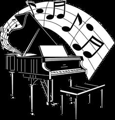 Illustration of a piano with music notes : Free Stock Photo Music Drawings, Music Artwork, Art Music, Music Love, Music Is Life, Musik Clipart, Silhouette Cameo 4, Music Illustration, Photo Illustration