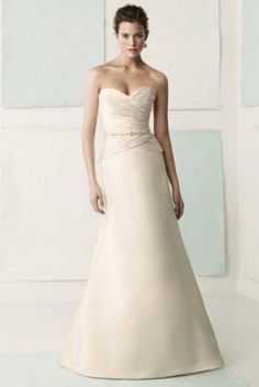 Mikaella 1405 wedding dress has a clean silhouette but is stunning!  Brand new size 10 sample for $350.