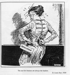 003 Suffrage Cartoon for the 1912 election. It appears as if