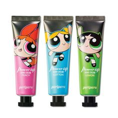 PERIPERA Power Up Hand Cream (Powerpuff Girls Edition) Feature Peripera X Powerpuff Girls Edition ! Slight fragrance / Moisturizing Shield Fragrance Option Peach Cotton Lemon Volume Weight How To Use When your hands are dry, apply them from time to time. Pink Lips Makeup, No Eyeliner Makeup, Powerpuff Girls Makeup, Pink Mascara, Cute Makeup, Feet Care, Hand Cream, Makeup Trends, Makeup Collection