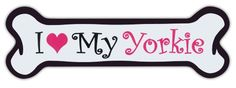 Pink Dog Bone Shaped Magnets: I Love My Yorkie (Yorkshire Terrier) | Cars Crazy Sticker Guy http://www.amazon.com/dp/B00JJ6FNPS/ref=cm_sw_r_pi_dp_AIRKvb1TXN2VS
