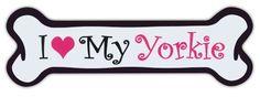 Pink Dog Bone Shaped Magnets: I Love My Yorkie (Yorkshire Terrier) | Cars Crazy Sticker Guy http://www.amazon.com/dp/B00JJ6FNPS/ref=cm_sw_r_pi_dp_AIRKvb1TXN2VS