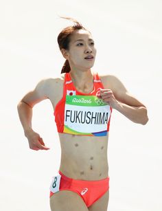 GettyImages-589705648.jpg (2744×3576) / Heres Why Japans Chisato Fukushima Wore Patches While Running In Rio Athletics #陸上 #福島千里 #リオ五輪 #オリンピック