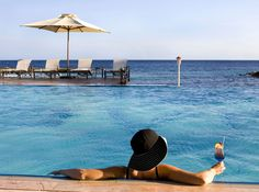 Avila Hotel infinity pool.  What a way to relax!