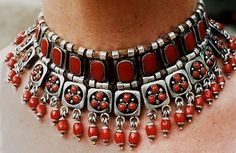 Frank Patania Sr., c. 1955. Unmarked Sterling silver and coral necklace