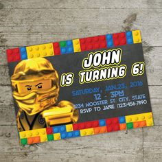 LEGO-Einladung Ninjago Einladung Lego print Einladung von DiPics