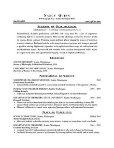 example of resume for graduate school examples httpwwwresumecareer