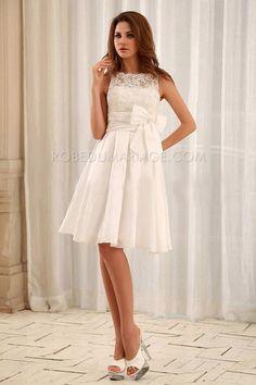 Meilleure vente robe de mariée courte mariage civil http://www.robedumariage.com/robe-de-mariee-civil-evasee-pas-chere-taffetasfroncee-noeud-product-5649.html