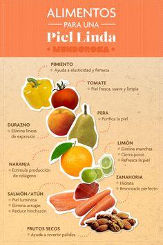 Alimentos para una piel linda.