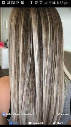 Ash Blonde Hair, Brunette Hair, Ombre Hair, Balayage Hair, Hair Color And Cut, Cool Hair Color, Hair Colors, Hair Color Highlights, Great Hair