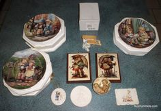 Lot of 10 Goebel Hummel Collectibles Ornaments Plates + MORE $0.99 Starting Bid!