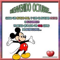 Bienvenido Octubre... llega un nuevo mes, y con el nuevas metas e ilusiones!