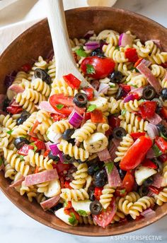 The Best Italian Pasta Salad Recipe - Hands down the most perfect Italian style pasta salad we've ever tried! With fresh ingredients, salami, olives, and