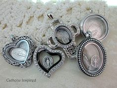 Marian Themed Charms Add-on Floating Locket by CatholicInspired