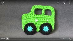 Crochet Car Applique Tutorial: http://youtu.be/ukChnM2jl48