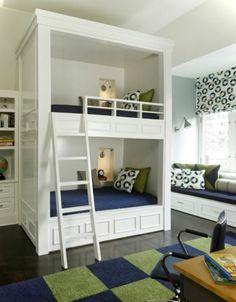traumhaftes hochbett mit treppe in weiß | hochbett | pinterest - Hochbett Im Kinderzimmer Pro Und Contra Das Platzsparende Mobelstuck