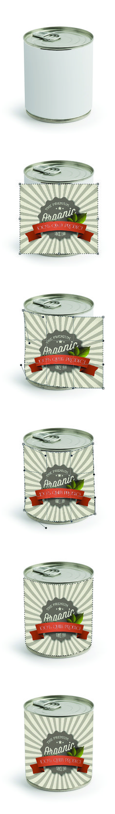 Learn how to wrap a label on a can in Photoshop with this Warp tool tutorial from Smartpress.com.